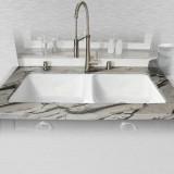 "Big Corona 744-UM Double Bowl Kitchen Sink Undermount   43"" x 19.5"" x 10"""