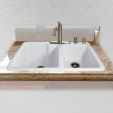 "Redondo 734-5 Offset Self Rimming Kitchen Sink   33"" x 22"" x 10"" / 8"""