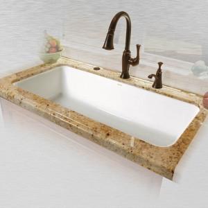 """Vilano 741-UM Single Bowl Undermount Kitchen Sink   43"""" x 19.5"""" 10"""""""