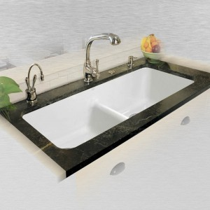"Big Corona 744-LD UM Double Bowl Undermount Kitchen Sink   43"" x 19.5"" x 10"""