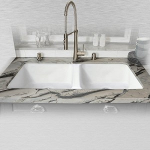 "Big Corona 744-UM Double Bowl Kitchen Sink Undermount   43"" x 19.5"" x 10"""