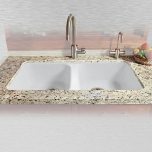 "Royal Palm 746-UM Equal Double Bowl Undermount Kitchen Sink   33"" x 22"" x 9.75"""