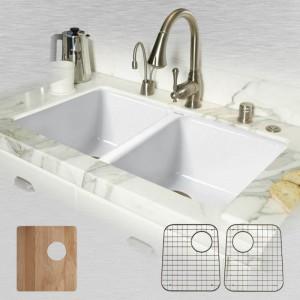 Doheny 748-UM-20-ALL Double Bowl Undermount Kitchen Sink Kit