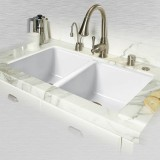 "Doheny 748-UM Double Bowl Undermount Kitchen Sink    33"" x 19.5"" x 9"""