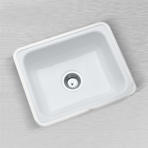 "Little Corona 720-H Flat Rim Kitchen Sink 24"" x 20"""