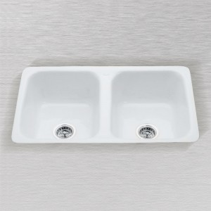 "Aliso 730-A-UM  Flat Rim Undercounter Mount Kitchen Sink 30"" x 18"""