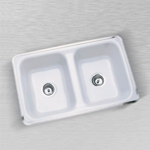 "Aliso 730-C  Flat Rim Kitchen Sink 32"" x 18"""
