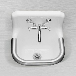 "865 Enameled Cast Iron Wall Hung Service Sink 22"" x 18"""