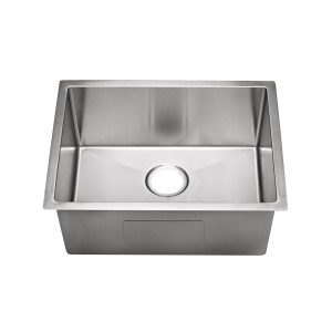 "20-266-9 Stainless Steel Square Corner Single Bowl Undermount Sink 23"" x 18"" x 9"""