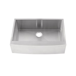 "437-UM-SB-FS Stainless Steel Apron Sink Single Bowl Undermount Sink 35 3/8"" x 22"" x 10"""