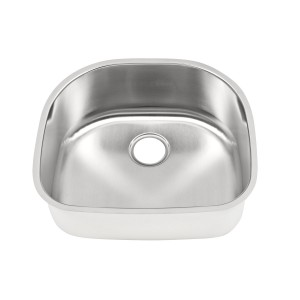 "450 Stainless Steel Undermount Single Bowl Sink 23 1/4"" x 20 7/8"" x 9"""