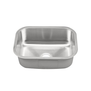 "458-UM Stainless Steel Undermount Single Bowl Sink 23 3/8"" x 17 3/4"" x 9"""